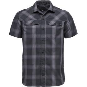 Black Diamond Benchmark SS Shirt Men black-anthracite-carbon plaid